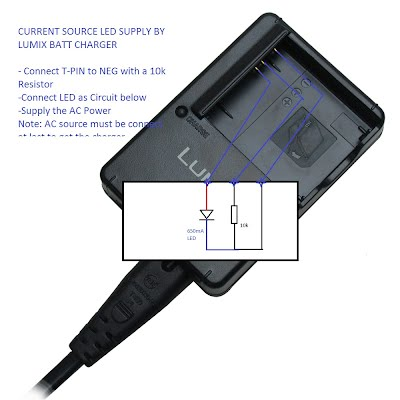Panasonic Camera charger as Led current source supply